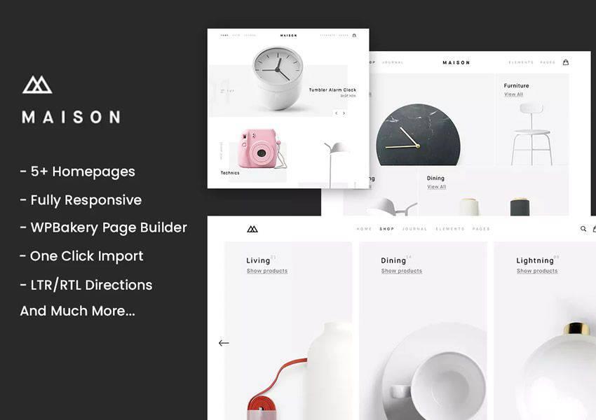 Maison Minimalist wordpress theme ecommerce shop woocommerce