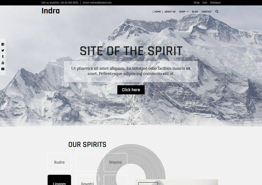 Indra WPKoi free wordpress theme wp responsive ecommerce shop woocommerce