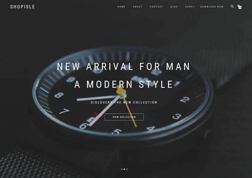 ShopIsle free wordpress theme wp responsive ecommerce shop woocommerce