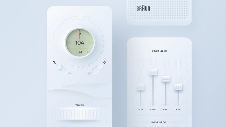 Neumorphic Radio Player App Concept