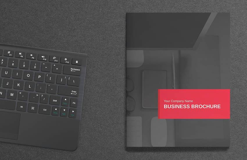 Royal Red brochure business template format