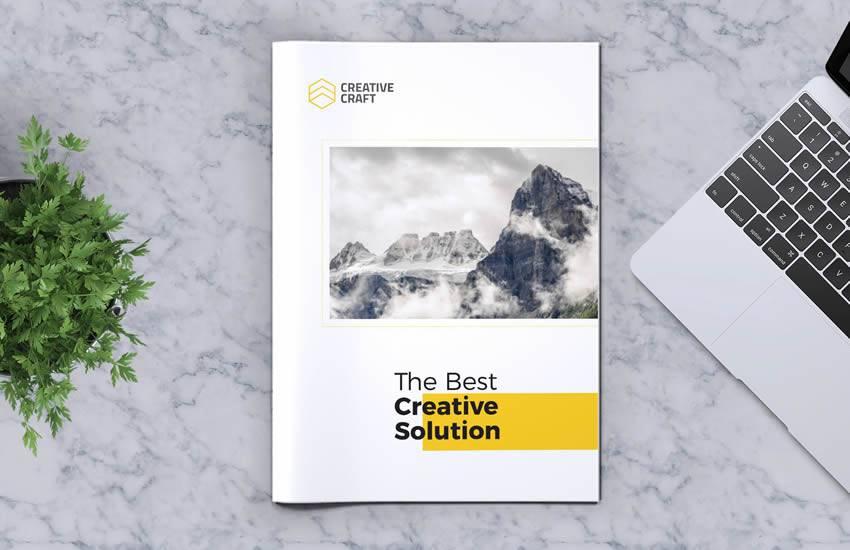 Creative brochure business template format
