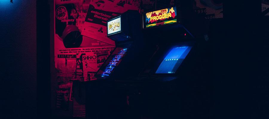 Arcade machines.