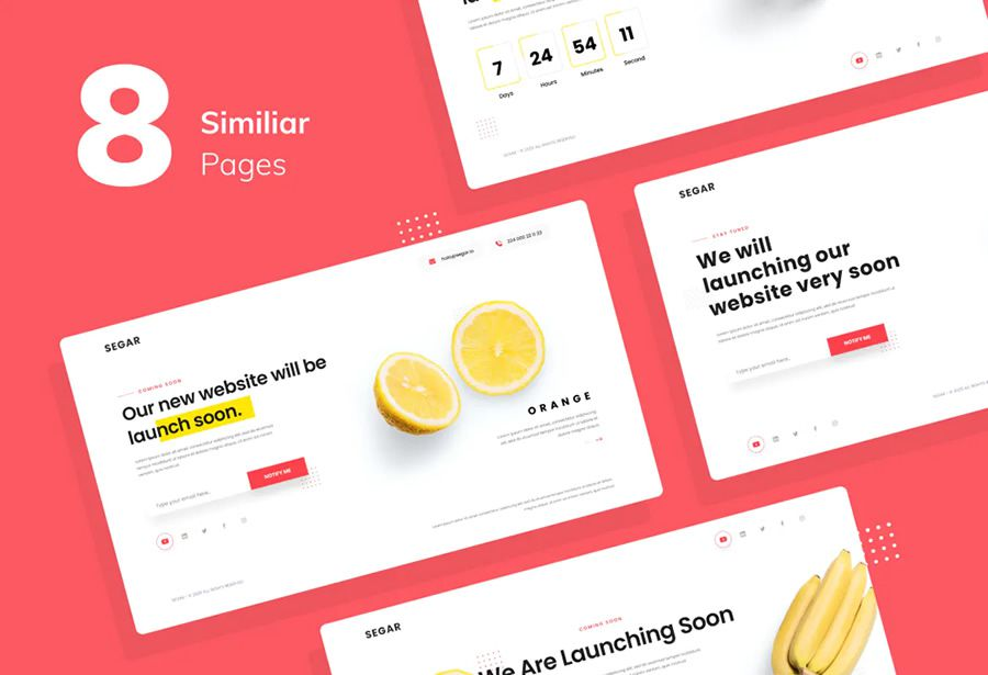 Website Template Figma Photoshop coming soon page web design inspiration