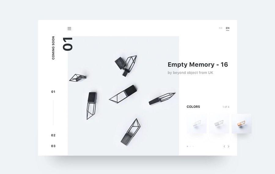 Minimal coming soon page web design inspiration