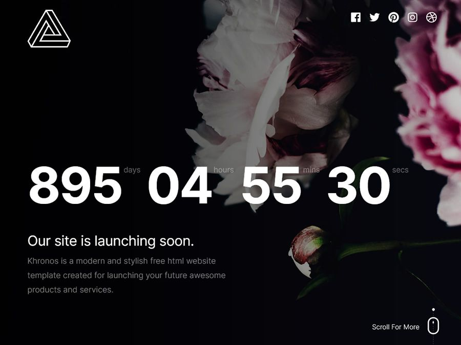 Khronos 2.0 coming soon page web design inspiration