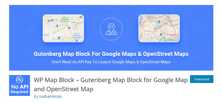 WP Map Block – Gutenberg Map Block for Google Map and OpenStreet Map